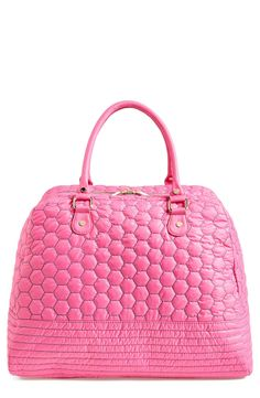0c8995a15c This lightweight honeycomb quilted duffel bag with polished hardware offers  a spacious interior perfect for the gym and weekends away.