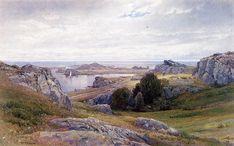 Coast with Sailboat, Newport (William Trost Richards - )