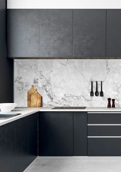 - LiVE - The Effective Pictures We Offer You About marble kitchen floor A quality picture can tell you many - Luxury Kitchen Design, Kitchen Room Design, Home Decor Kitchen, Interior Design Kitchen, Home Design, Home Kitchens, Interior Livingroom, Interior Modern, Minimalist Kitchen