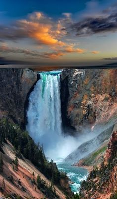 Yellowstone - We hiked this all the way to the rim - gorgeous and loud