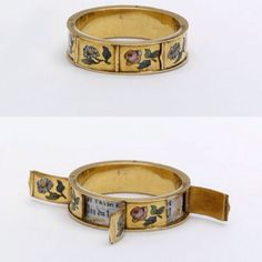 "French ""love ring,"" with hidden compartments that reveal messages like ""Je T'aime"" (I love you), Love rings, with hidden messages or inscriptions were customarily presented to women during courtship, prior to winning parental approval. Jewelry Rings, Jewelry Accessories, Fine Jewelry, Jewelry Design, Geek Jewelry, Cheap Jewelry, Jewellery Box, Silver Jewellery, Modern Jewelry"