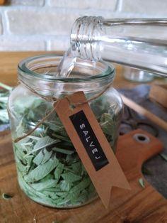 PASTU domov: Šalvějová tinktura Easy Craft Projects, Medicinal Plants, Kraut, Home Remedies, Aloe Vera, Mason Jars, Smoothie, Vodka, Herbs