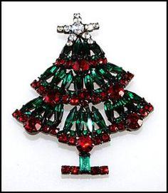 Christmas Jewelry Price Guide: Vrba Von Walhof Christmas Tree Pin