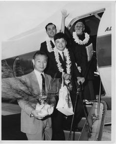 "1961 in Hawaii - Aikido Founder Morihei Ueshiba with his two Otomo, Koichi Tohei and Nobuyoshi Tamura, with Hawaii Chief Instructor Yukiso Yamamoto. More about OSensei and Hawaii on the Aikido Sangenkai​ blog:  ""OSensei's Otomo on his 1961 visit to Hawai'i"" - a little bit about Koichi Tohei and Nobuyoshi Tamura in Hawaii: http://www.aikidosangenkai.org/blog/osensei-otomo-1961-hawaii/  ""Koichi Tohei: Aikido Comes to Hawaii"" - about Koichi Tohei's beginnings in Hawaii…"