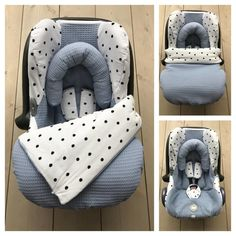 Maxi Cosi set - Oud Blauw / Dots- Cabrio Fix Baby Queen, Car Seat Blanket, Baby Zimmer, Future Baby, Baby Boy Outfits, Baby Items, Baby Car Seats, Baby Kids, Kids Room