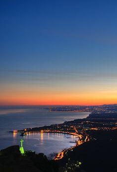 Taormina: Giardini Naxos bay at sunset , Taormina, Sicily, Italy  Scopri le Offerte!  #Taormina