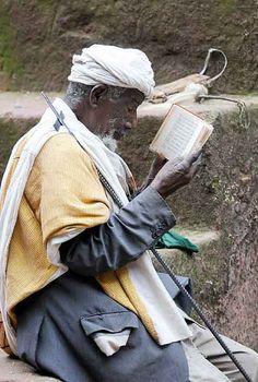 Old Man Praying, St Georges Church, Lalibela, Ethiopia