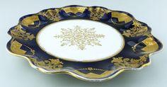 Antique Porcelain : Aynsley gilt Serving Plate C.1900t | eBay
