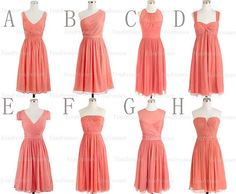 coral bridesmaid dresses short bridesmaid dress por Yesdresses