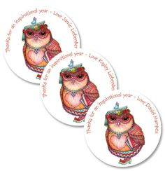 Personalised teacher owlivia Tracy Paul Gift Stickers - order and personalise online at www.macaroon.co.za Kids Labels, Personalized Stationery, Teacher Gifts, Party Invitations, Gift Tags, Holiday Cards, Gift Ideas, Stickers, Christian Christmas Cards