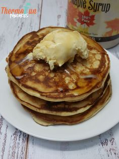 thermomix pancakes - does it get much simpler? I don't think so - just more time to sit & enjoy the endless possible creations :) A meal for anytime of the Thermomix Pancakes, Thermomix Desserts, Banana Pancakes, Pancakes And Waffles, Sweet Recipes, Cake Recipes, Bellini Recipe, Best Pancake Recipe, Decadent Food