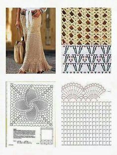 Fabulous Crochet a Little Black Crochet Dress Ideas. Georgeous Crochet a Little Black Crochet Dress Ideas. Crochet Skirt Pattern, Crochet Skirts, Black Crochet Dress, Crochet Diagram, Crochet Clothes, Crochet Lace, Crochet Stitches, Doilies Crochet, Knitting Patterns