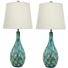 Universal Lighting and Decor Zuri Teal Blue Ceramic Table Lamp Set of... ($274) ❤ liked on Polyvore featuring home, lighting, table lamps, blue, set of 2 table lamps, teal table lamp, ceramic table lamps, set of two table lamps and ceramic lamp