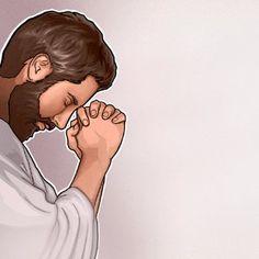 Um homem dos tempos bíblicos orando