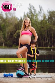 """Only """"Baby Weight"""" #Pregnancy #Workout. Great #EXERCISE Routine to not gain EXCESS WEIGHT and have a FIT PREGNANCY with lots of safe exercises."""
