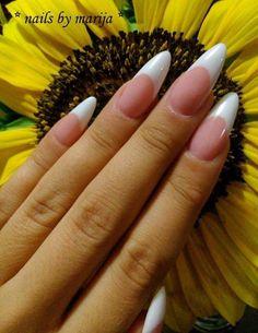 Stiletto nails French manicure