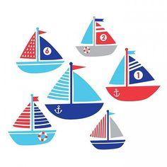 forwalls Forwalls muursticker zeilboot Ahoy