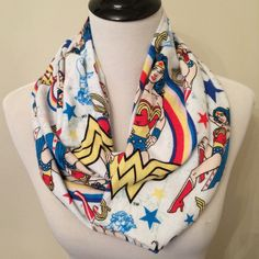 Wonder Woman Infinity Scarf Flannel Scarf Superhero by StylishGeek