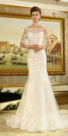 15 Classic Wedding Dresses You Cant Go Wrong With ❤ See more: http://www.weddingforward.com/classic-wedding-dresses-ideas/