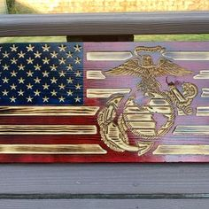 Wooden Flag Marine Corps Flag Military flag Rustic Wood   Etsy Beautiful Christmas Decorations, Christmas Centerpieces, Marine Corps Emblem, Wooden Flag, Flag Stand, Moon Art, Wood Colors, Rustic Wood, American Flag