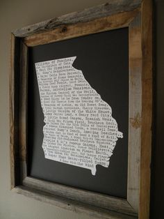 Georgia In A Nutshell Word Art Map Print by fortheloveofmaps, $22.00