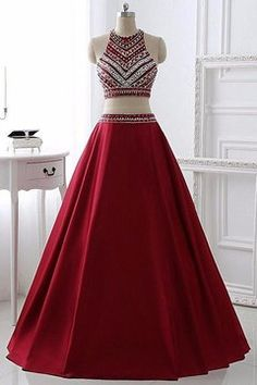 Two Pieces Burgundy Prom Dress Bridal Party Dresses, Shop plus-sized prom dresses for curvy figures and plus-size party dresses. Ball gowns for prom in plus sizes and short plus-sized prom dresses for Pretty Prom Dresses, Prom Dresses 2016, Prom Dresses For Teens, A Line Prom Dresses, Dance Dresses, Formal Dresses, Dress Prom, Prom Gowns, Long Dresses