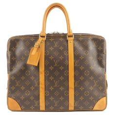 LOUIS VUITTON Monogram Porte-Documents Voyage Bag M53361 Used F/S