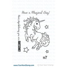 Your Next Stamp MAGICAL UNICORN Clear Stamp CYNS240 Preview Image