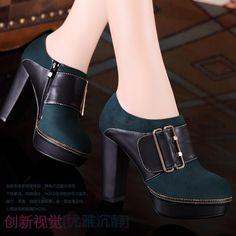 Aliexpress.com: Comprar 2013 punta redonda zapatos de tacón alto formales suela de goma rhinestone zapatos de tacón grueso de de calzado confiables proveedores de jinghaoxiefang.
