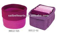 Pp de crochet de hilo cesta colgante para el baño-Cestas de ...