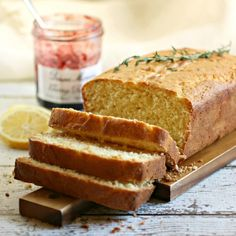 Lemon and Thyme Sweet Cornmeal Loaf. Find this and other wonderfully yummy recipes at our website, Yum Goggle. Check us out, you won't be sorry!