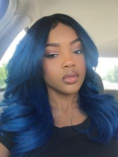 Dyed Hair – Images – Hair, Nails, Skin – Tips, Tricks and Hacks Cute Hair Colors, Pretty Hair Color, Beautiful Hair Color, Weave Hairstyles, Pretty Hairstyles, Straight Hairstyles, Blue Hairstyles, Curly Hair Styles, Natural Hair Styles