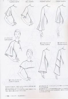 The best DIY projects & DIY ideas and tutorials: sewing, paper craft, DIY. DIY Women's Clothing : Guid to Fashion Design by Bunka fashion coollege (Japan)/ sleeves -Read Fashion Design Drawings, Fashion Sketches, Dress Sketches, Sewing Sleeves, Fashion Terms, Trendy Fashion, Style Fashion, Fashion Vocabulary, Fashion Dictionary