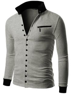 Doublju Mens Jersey Cardigan with Contrast Detail GRAY (US-M) Doublju,http://www.amazon.com/dp/B00C5W601O/ref=cm_sw_r_pi_dp_-3jssb0SK9ZVD895