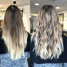 Blonde and blended! A new look by Emma @rapunzel.stockholm using #Olaplex 💛 #beforeandafter #rapunzelofsweden