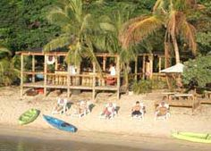 Relaxing on the Beach at Sundowner in Half Moon Bay, West End, Roatan, Bay Islands, Honduras