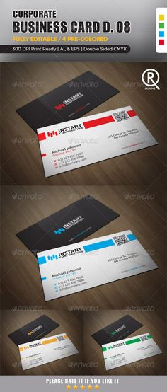 Corporate Business Card 8  #GraphicRiver