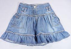 Jupe jean denim bleu froncé Tape à l Oeil 3 ans filles