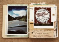 scrapbook on the road - Ali Edwards class Travel Journal Scrapbook, Travel Journals, Mini Scrapbook Albums, Scrapbook Layouts, Mini Albums, Scrapbook Paper, Travel Album, Travel Books, Travel Things