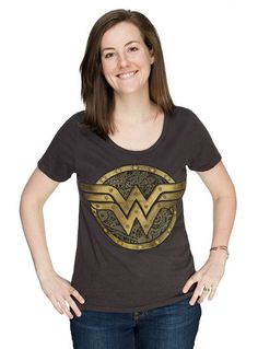 Wonder Woman Steamy Ladies Logo - T-shirt