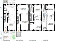 New york brownstone floor plans modify for california by putting brownstone floor plan malvernweather Images