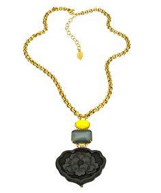 David Aubrey Black Carnation Necklace #maxandchloe