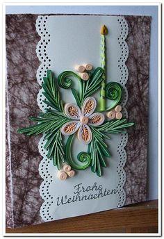 Weihnachtskarte mit der Kerze / Новогодняя открытка