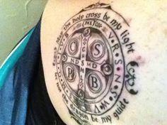 Resultado de imagem para saint benedict medal tattoo