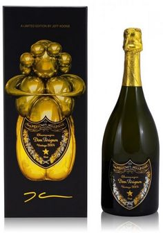 Dom Perignon vintage 2004 X Jeff Koons limited edition champagne Jeff Koons, Dom Perignon, Champagne Cooler, Drink Labels, Wine Packaging, Wine And Liquor, In Vino Veritas, Sparkling Wine, Wine And Spirits
