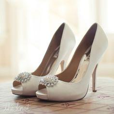 Ivory Peep-toe Pumps