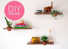 DIY Succulent Wall Mounted Shelving