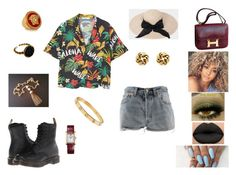 """""""&"""" by ohbabyimrachel ❤ liked on Polyvore featuring MANGO, Hermès, Levi's, Dr. Martens, Monet, Trifari, Versace and Cartier"""