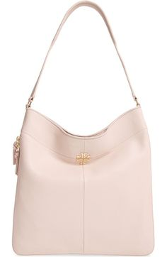 Tory Burch Ivy Leather Hobo available at #Nordstrom