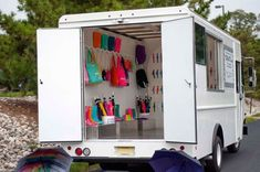 Retail merchandising truck that was recently rented to a client to promote a new line of products!